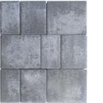 Tlakovci Belveder - Multikolor sivo črna
