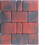 Tlakovci Nostalit - Multikolor rdeče črna