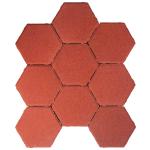 Tlakovci Šestkotnik - rdeča